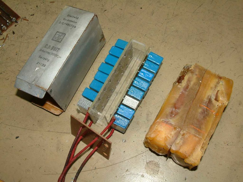 Blockkondensator neu befüllt